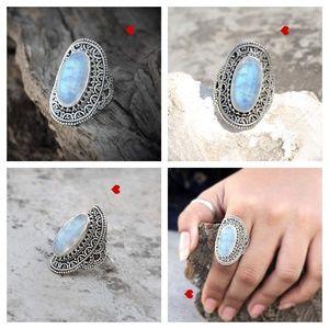 Moonstone Ring Benefits Oval Silver June Birthston